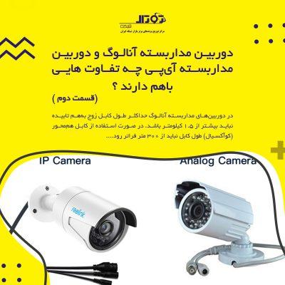 دوربین مداربسته آنالوگ و دوربین مداربسته آیپی چه تفاوت هایی باهم دارند ؟ (قسمت دوم )