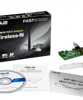 جعبه کارت شبکه asus مدل PCE-N10